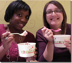 nicci and i with delightful yogurt