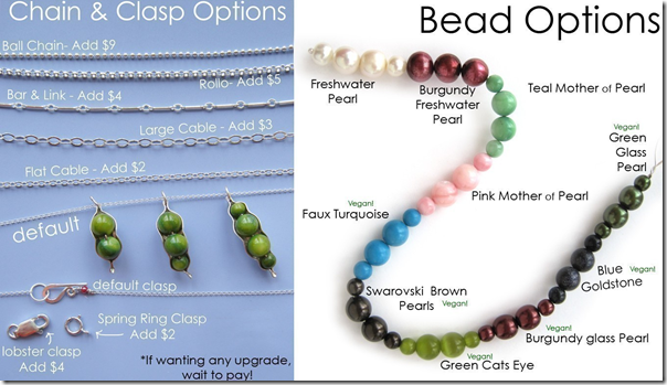 chain and bead options VEGAN
