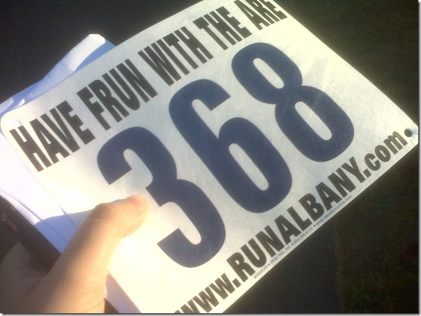 race number